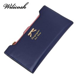 Wholesale Cheap Ladies Passport Wallet - Wholesale- Wilicosh 2017 Fashion PU Women Wallet Multifunctional Long Wallet Vintage Ladies Clutch Thin Cheap Coin Purse Card Holder HB005