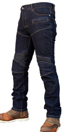 Wholesale Men S Windproof Pants - The 2017 High quality KOMINE pk718 motorcycle jeans riding pants Slim racing pants have protection off-road pants Drop resistance pants