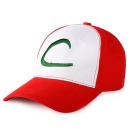 Wholesale Hat Fan Cartoon - Wholesale- 1Pcs Men Ash Ketchum Fans Cartoon Hat C Mesh Adjustable Baseball Cap Costume Party Carnival Trainer Casual Outdoor sports Hat