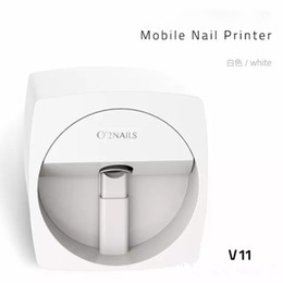 Wholesale 3d Paint Nail - O2NAILS Automatic nail painting machine V11 Multifunction Mobile Wifi Easy All-Intelligent 3D Nail Printers Video To Teach
