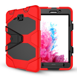 Wholesale ipad military cases - 50pcs For Ipad Pro 9.7 mini 2 3 4 5 6 air SAMSUNG tab 3 4 Military Extreme Heavy Duty Shockproof CASE Stand
