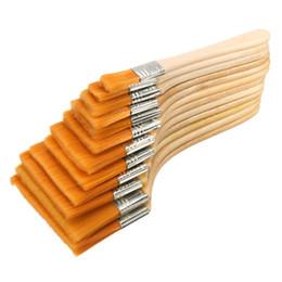 Wholesale Oil Acrylic Brushes - 12pcs set Paint Brush Nylon Hair Oil Brush Large Medium Small Surface Size 1-12 Available Acrylic Paint Brush for Art Supply