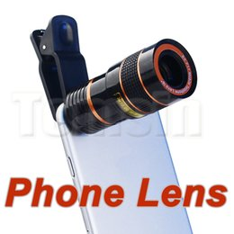 Wholesale Mobile Phone Telescope Camera - 8x Zoom Optical Phone Telescope Portable Mobile Phone Telephoto Camera Lens and Clip for iphone smart phone