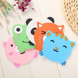 Wholesale Heated Rubber Mat - Animal shaped soft rubber cup mat Creative antiskid heat insulation coasters Lovely kitchen tableware irregular pad