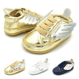 Wholesale Kids Shoe Wings Wholesale - Kids wing Shoes infant Cotton Walkers Girls boys wings Baby First Walkers C2987