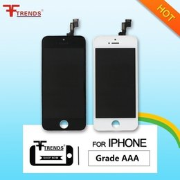 Wholesale Mesh Screens - Grade A+++ for iPhone 5 5C 5S LCD Display & Touch Screen Digitizer Full Assembly with Earpiece Anti-Dust Mesh Free Installed