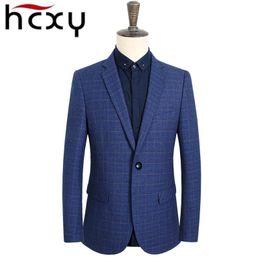 Wholesale Suite Jackets - Wholesale- HCXY Brand New Casual jacket Cotton Men Blazer Jacket Single Button Mens Suit Jacket 2016 Autumn Coat Male Suite large size 6XL
