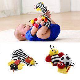 Wholesale Sock Lamaze - NEW lamaze sock baby rattle baby toys Lamaze Garden Bug Wrist Rattle and Foot Socks Bee Plush toy toddler Infant toys JC98
