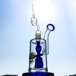 Wholesale 18 mm Gemeinsame Top Water Pipes Anker Perc Glas Bongs Öl Tupfen Rig mit Quarz Banger Inline Perc Bong DGC12423
