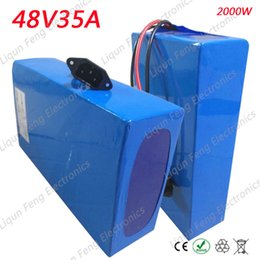 Wholesale Battery Electric Bike 48v - High Power 2000W E-Bike Battery 48V 35AH 26650 Lithium ion Battery Pack 48V for Electric Bike With 54.6V Charger 50A BMS Battery