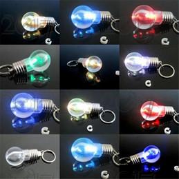 Canada Nouveauté LED ampoule en forme d'anneau trousseau lampe de poche coloré porte-clés lampe arc en ciel couleur romantique amant chaîne clé ampoule collier Offre