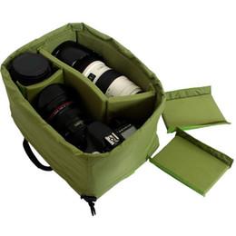 Wholesale Dslr Camera Bag Inserts - camera Insert Partition Padded Inner Bag Fit 1x DSLR+3x Lens F00239 SMR