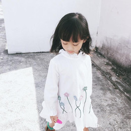 Wholesale Butterfly Tutu Dress Long Sleeve - In Stock Baby Kids 3 color Dresses Girls Lace Butterfly Dress Girls Long Sleeve Princess Clothes Children Baby Dresses Girl Clothing