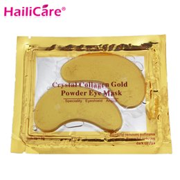 Wholesale Top Whitening Mask - Wholesale- 10pcs=5packs Top Quality Hotsale Eye Patches Crystal Collagen Gold Powder Eye Mask Eye Contour Crystal-Mask