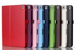 Wholesale Brown Ipad Cases - New Arrival New For ipad mini PU Leather Protective Case Smart Stand Cover for iPad Mini1 mini2 mini3 Free Ship 10 Colours Free Shipping