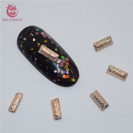 Wholesale Gel Resin Nails - Wholesale- Beleshiny 50pcs lot 3D nails art decorations gel With Gold Foil studs resin drill DIY Sapphire accessories for nails DesignSZ033