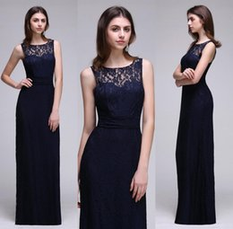 Wholesale End Line - Under $50 In Stock Navy Blue High End Bridesmaid Dresses Summer Beach Maid of Honor Gowns Keyhole Back A Line Dresses CPS539