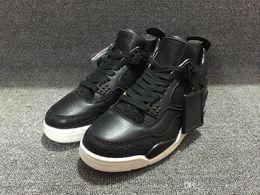 Wholesale Croc Red - 2016 Guarantee Men 4 IV RETRO PREMIUM 819139-010 CROC PINNACLE BLACK SAIL Men basketball Shoes Sport Retro 4 Premium Black Size 41-47