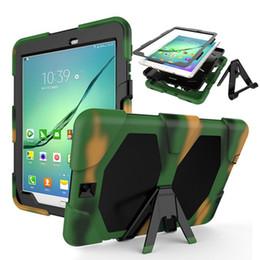 Wholesale Tab Pc Case - For Samsung Galaxy Tab S2 9.7 T810 T815 Tablet Case Cover Durable Silicone+PC Hybrid Rugged Shockproof Water Repellent Case