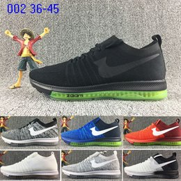 Wholesale Name Brand Sneakers - 2018 new arrivel ZOOM all out knit brand name racer Men's Women's Lover Running sock Air cushion sneaker Sport Shoes TRIPLE BLACK