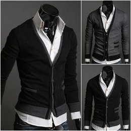 Wholesale Premium V Neck - Wholesale- Mens Male Fashionable Cotton Premium Good Selling Classic Stylish V-neck Solid Fit Comfortable Button Sown Cardigan XL