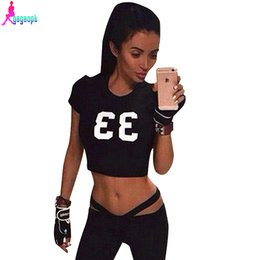 """Wholesale Crop Top Jogging Suit - Spring Women Sportswear Crop Top&Legging Two Pieces Tracksuit Sexy Bodycon Print """"33"""" Stretch Yuga Sheath Fitness Cloth Jogging Suits"""