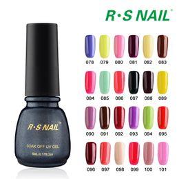 Wholesale one step uv gel polish - Wholesale- RS Nail 2pcs 5ml Nail Lacquer In UV Gel Soak Off Three In One Step Gel Polish 3 In 1 Nail Gel for Gels Nails