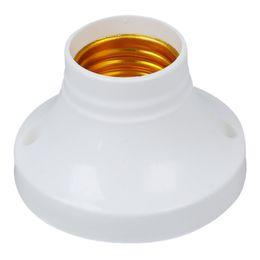 science pack Rabatt Weiße Farbe ABS Material E27 Lampe AC250V 6A Sockel Basis Halter, 10 Teile / los