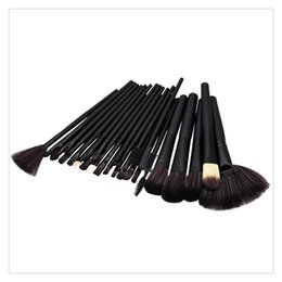 Pennelli trucco impostato 32 pz online-Pennelli per trucco 32 PCS Pennelli per trucco in lana Set di strumenti con custodia in pelle PU Cosmetici per il viso Make up Kit di pennelli Strumenti Spedizione gratuita