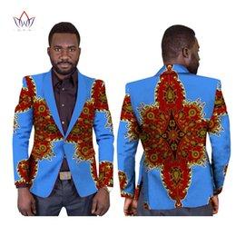 Wholesale Elegant Black Suits For Men - Custom made Prined Men Blazer Africa Style Suit Casual Fashion Elegant for man jacket WYN169