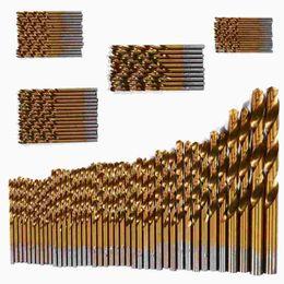 Wholesale Hss Metric - 99pcs Titanium Coated Metal HSS High Speed Steel Twist Drill Bits Set Tools 1.5mm-10mm Metric System BI694-SZ