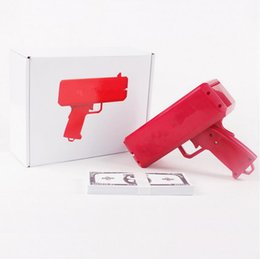 Wholesale In Stock Brand New Supremee Money Gun Cash cannon SS17 Make It Rain Money Gun Red Christmas Gift Toys Fasion