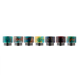Wholesale Atomizer Drip Stainless - NEW TFV8 Drip Tips SS Epoxy Resin Fit Vape TFV8 Atomizer Tank Stainless Steel + Epoxy Resin Wide Bore Mouthpieces