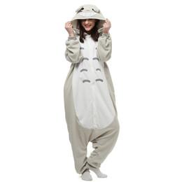 Wholesale Adult Kigurumi Onesies - Brand New Unisex Adult Kigurumi Pajamas Totoro Costume Cosplay Animal Onesies Men Women Cartoon Sleepwear Jumpsuit