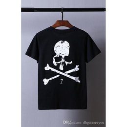 Wholesale Skull Womens Shirts - 2017 new GOOD QUALITY t shirt men Skull Mastermind Skeleton print t-shirt cotton streetwear ASSC shirts men womens hip hop GOOD tee