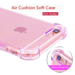 Wholesale Cell Phone Cases Bulk - Soft TPU Cell Phone Case for iPhone 6 6S Air Cusion Corner Anti-shatter Back Cover Bulk Clear Case
