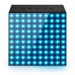 aplicativo portátil Desconto 4.0 Smart LED Sem Fio bluetooth speaker Night light com APP Controle portátil LED Relógio para Pixel Art Creation