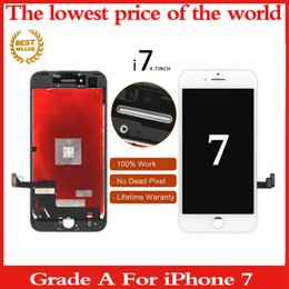 Wholesale Wholesale Iphone 5c Screens - Grade A Quality LCD Screen For Iphone 5 5c 6 6s 7 7 8 plus LCD Touch Display Screen Digitizer Assembly White Black dhl free