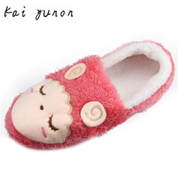 Wholesale Cotton Padded Slippers - Wholesale-kai yunon Women Home Floor Soft Stripe Slippers Female Cotton-padded Shoes Shoes Oct 13