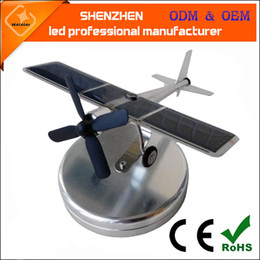 Wholesale Powered Model Cars - Vehicle mounted solar powered aircraft Car Interior Decoration pendant plane model aviation model of creative gifts