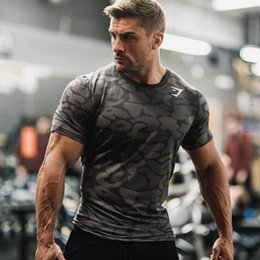 Wholesale Base Layer Shirts - Men Fitness Sport Compression Base Layers Under Tops Shirts Thermal Tees Sport Camouflage t shirts for men