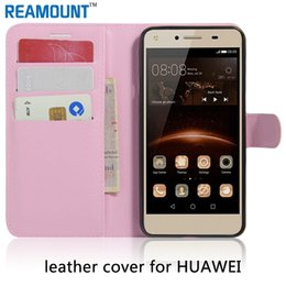 Wholesale Book Style Credit Card Wallet - Wholesale Flip Cover Stand Card Holder Wallet PU Leather Book Style Case For Huawei Honor 6X Credit Card Holder Protective Cases