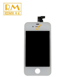 Wholesale Iphone 4s Glass Frame - 10pcs lot For iPhone 4G 4S LCD Display Touch Screen Digitizer Touch Glass Front Frame Assembly LCD Touch Panels Replacement Part Grade A