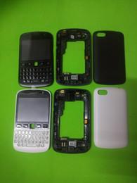Wholesale Full Blackberry Housing - Full Set (Front Frame+Middle Bezel Frame +Battery Housing Door Back Cover Case) +Keypad For Blackberry Bold 9720 with logo DHL Free Shipping
