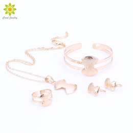 Wholesale Dog Pendant Earring - Children Gold Plated Dog Bone Pendant Necklace Earrings Bracelet Ring Children Birthday Party Baby Gift Kid Jewelry Sets