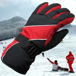 Wholesale Fiber Finger - Winter Snow Waterproof Thicken Warm Ski Gloves Snowboard Mittens Cotton Fiber Lined Gloves for Outdoor Travel z074
