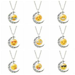 Wholesale Good Earrings For Sale - Newest Emoji Expression Moon Shape Pendant Necklace Stud Earrings Bracelet Good Design Jewelry Set For Women Girls Hot Sale