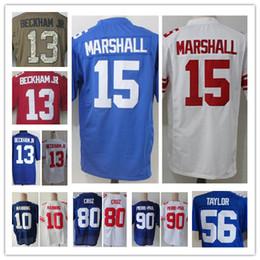 Wholesale Elite American Football - Men's 10 Eli Manning 13 Odell Beckham Jr 15 Brandon Marshall 80 Victor Cruz Elite American Football Jerseys Top Quality Stitching Jerseys