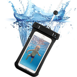 Wholesale Iphone Beach - Fashion 6.0 Inch Waterproof phone bag For iphone 7 case For Samsung Galaxy U Transparent Touchable Pouch beach Underwater phone Bag