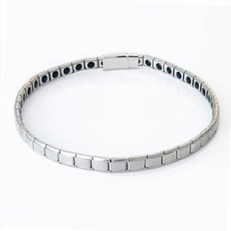 Wholesale Magnetic Anti Fatigue - Top Quality 9mm Silver Plated Chain Stainless Steel Bracelets 38CM 40CM 42CM Length Men's Chain Anti-fatigue Magnetic Necklace Wholesale